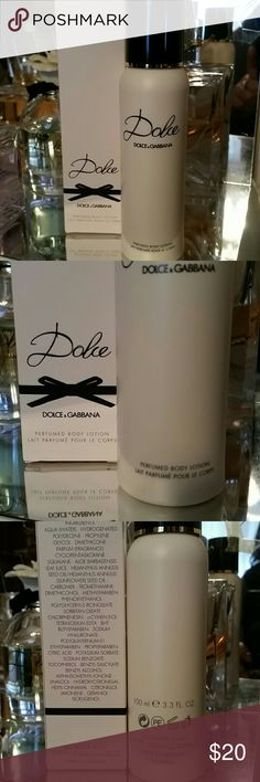 Dolce & Gabbana Dolce by Dolce & Gabbana  Perfumed body lotion. Smells beautiful! 3.3oz/100ml New. Never used. Dolce & Gabbana Makeup
