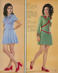 """These pictures come from a magazine called ""Thai Fashion"".The front cover features Miss Thailand 1968 – Saengduen Maenwongse in a traditional Thai-style dress, however inside the magazine the models are wearing clothing more reflective of the swinging sixties, such as Flower design dresses, Mini skirts, Hot pants and some sort of little red riding hood cape for the beach.""  - Voices of East Anglia  http://www.retronaut.com/2013/09/swinging-siam/"