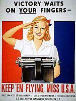 Fine print reads: 'Uncle Sam Needs Stenographers. Get Civil Service Information at Your Local Post Office.'