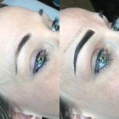 Before and After Combination Brow at thebrowstudioindy.com! Before and after, eyebrows, Microblading, powder fill, shading, embroidery, tattoo, Brow, eyelashes, lash, ombré brow, 3D brows, Tutorial, brows on fleek, makeup, Indiana Microblading, the Brow studio indy, Indianapolis, Noblesville, carmel, LipSense, Red Aspen lashes