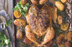 28x pečené kuře Good Food, Food And Drink, Turkey, Menu, Cooking, Menu Board Design, Kitchen, Turkey Country, Healthy Food