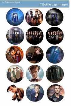 Folie du Jour Bottle Cap Images: Doctor Who free digital bottle cap images