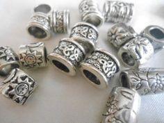 18 bead mix tibetan silver Spacer Beads on Wanelo