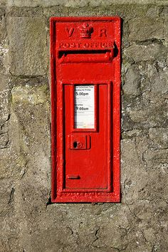 Victorian post box (LA2 18), Chapel Lane, Galgate, near Lancaster, UK