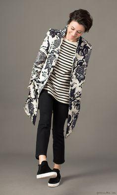 Studio Style: 3 Coats, J.Crew, stripe sweater, Equipment, sneakers, Zara / Garance Doré