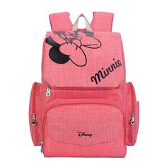 Disney Mickey Minnie Diaper Bag Backpack Baby Large Capacity Mummy Diaper Bags S. - Disney Mickey Minnie Diaper Bag Backpack Baby Large Capacity Mummy Diaper Bags Stroller Bag Organizer Mummy Maternity Nappy Bags Source by Mickey Mouse Diaper Bag, Minnie Baby, Mickey Y Minnie, Pink Minnie, Disney Mickey, Minnie Mouse Baby Stuff, Disney Moms, Minnie Mouse Nursery, Minnie Mouse Baby Shower