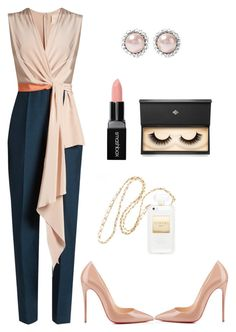 """work style"" by emiloveboutique on Polyvore featuring Miu Miu, Smashbox, Roksanda, Christian Louboutin and Lash Star Beauty"
