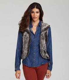 Chelsea & Violet Faux-Fur Vest - Dillards $108