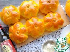 Рецепт: Тыквенные булочки с коричным маслом
