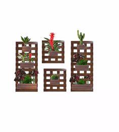 4 floreira vertical jardim 8 cachepôs promoção