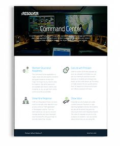 COmmand Center Product Sheet   Resolver Corporate Security, Risk Management, Learning, Studying, Teaching, Onderwijs