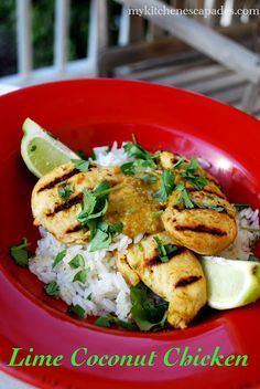 Lime Coconut Chicken - outstanding!
