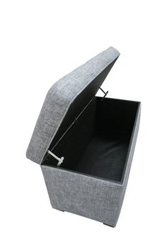 Black and Sand Button Tufted Storage Trunk - HauteLook