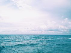 Ocean Photography | Turquoise Sea and Endless Blue Horizon by Beach Bum Chix