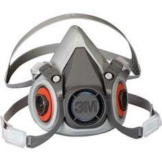 SE886 3M 6000 Series Half Facepiece Low-Maintenance Respirators #6100 SMALL (MED/LRG)
