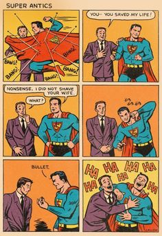 """Bullet"" (Bala). Una de las viñetas más divertidas de #Superman... jajajajajajaja"
