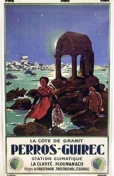 La Cte de Granit rose, Perros-Guirec - Britanny - France My home town Grandes Photos, Pub Vintage, Tourism Poster, Ville France, Railway Posters, Popular Art, Travel Images, Vintage Travel Posters, France Travel