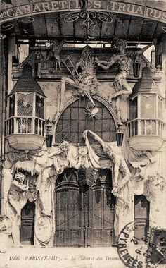 Entrance to a cabaret, Paris 1912