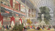 The Great Exhibition, housed within the 'Crystal Palace', displayed Prince Albert's vision of exhibiting industry.