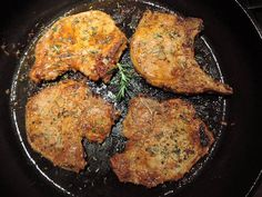 The Briny Lemon: Pan-Seared Tomato-Marinated Pork Chops