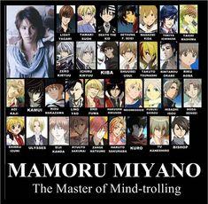 Mamoru Miyano actor de voces (¡es maravilloso!)