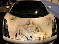 Mary and Jesus on a Lambo. my life is made <3