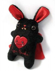 Vampire Bunny Plushie Pattern by Instructables - Plushie Patterns & Rag Dolls. FREE