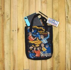the beatles yellow submarine totebag