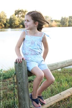 Little Girl Romper from Make It and Love It (via Lil blue boo)