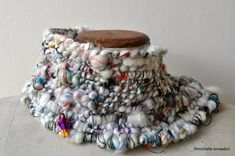 We've Got the Whole World in Our Hands, handwoven coil yarn neckwrap  I am thrilled to be offering a new extended 5day workshop with Fib...