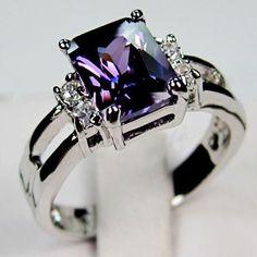 Wish | Sz6-9 Jewelry Amethyst Women 925 Sterling Silver Engagement Ring #SterlingSilverEngagement