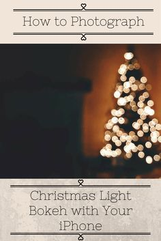 I love capturing Christmas Lights! Here is how I capture Christmas Light Bokeh with your iPhone