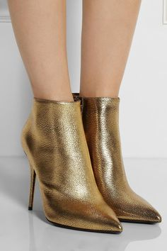 gold ankle boots - Google Search