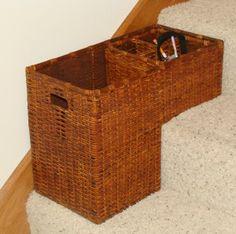 Stair Step Basket Ideas