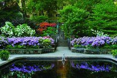 Winterthur, the acre Du Pont Estate, has gorgeous gardens in addition to the classical Estate House Winterthur, Formal Gardens, Outdoor Gardens, Public Garden, Parcs, Dream Garden, Water Features, Garden Features, Garden Bridge