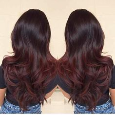 dark brown to auburn ombre hair - Google Search