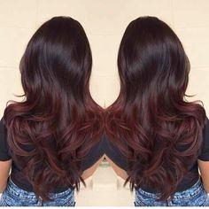 dark brown to auburn ombre hair - Google Search