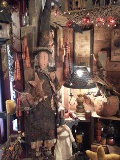 Primitive Fall Decorating, Primitive Autumn, Primitive Pumpkin, Primitive Crafts, Halloween Magic, Fall Halloween, Halloween Crafts, Halloween Decorations, Fall Primitives