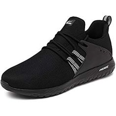 599f3b6bf720 ONEMIX Running Shoes Athletic Lightweight Breathable Mesh Casual Walking  Shoes Suitable Men and Women 1268Black45 Walking