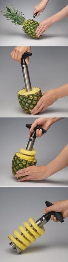 All Ware Stainless Steel Pineapple Easy Slicer and De-Corer