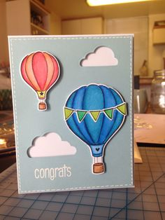 Congrats baby boy card for Richie and Joann. | Lawn Fawn: Blue Skies | Design inspired by nancyljk