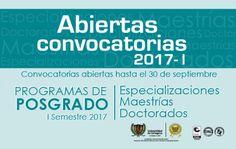 Convocatoria Programas de Posgrado 2017-1
