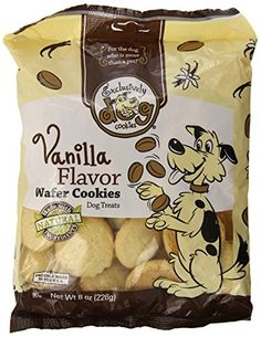 Exclusively Dog Wafer Cookies-Vanilla Flavor, 8-Ounce Package ** Check out this great product.