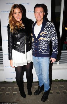In good company: The Made In Chelsea star was joined by her business partner Sam Dowler...