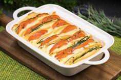 Zucchini-Tomaten-Auflauf mit Raclettekäse - schwarzgrueneszebra