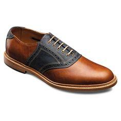 Finch  - Plain-toe  Saddle Lace-up Mens Dress Shoes by Allen Edmonds