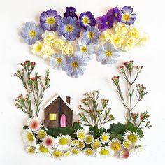 Ngắm những bức tranh nghệ thuật được tạo ra từ những cánh hoa - Ảnh 1.