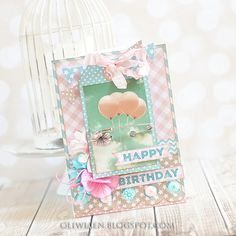 CraftHobby Oliwiaen: Birthday Card. Kartka urodzinowa