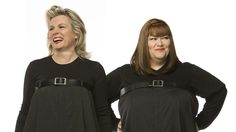 Jennifer Saunders and Dawn French. Comedians. Screenwriters
