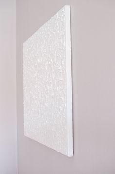 DIY White Acrylic Art / Minimalism
